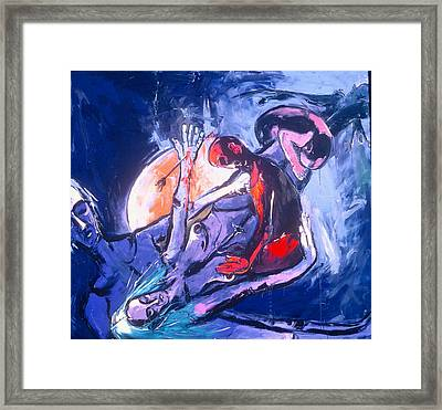 Twist And Turn With Rhythmic Ease Framed Print