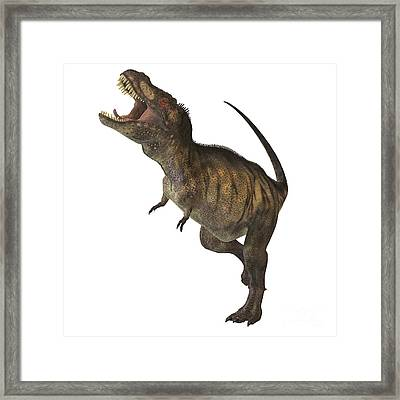 Tyrannosaurus Rex Framed Print by Corey Ford