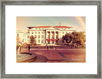 Uc Berkeley . Sproul Hall . Sproul Plaza . Occupy Uc Berkeley . 7d9994 Framed Print by Wingsdomain Art and Photography