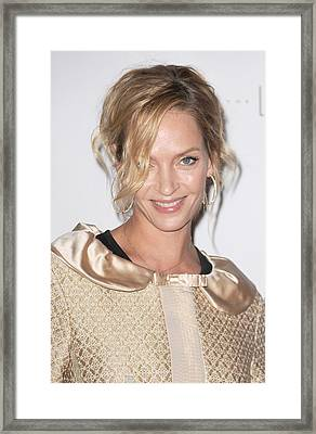 Uma Thurman In Attendance For Friars Framed Print