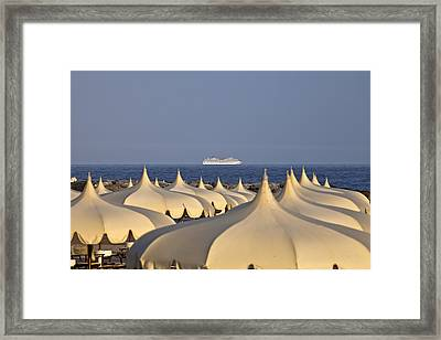 Umbrellas In The Sun Framed Print by Joana Kruse