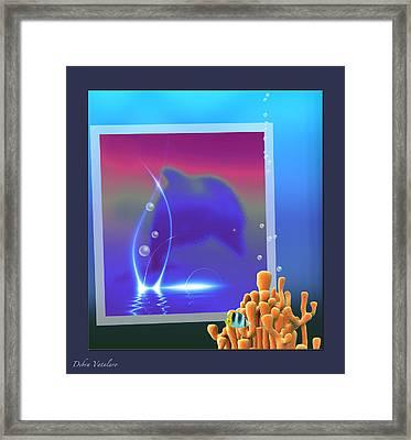 Under The Blue Collection Framed Print by Debra     Vatalaro
