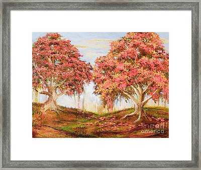Under The Trees Framed Print by Vic  Mastis