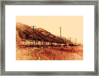 Union Pacific Locomotive Trains . 7d10558 Framed Print by Wingsdomain Art and Photography
