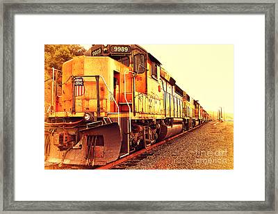 Union Pacific Locomotive Trains . 7d10588 Framed Print by Wingsdomain Art and Photography
