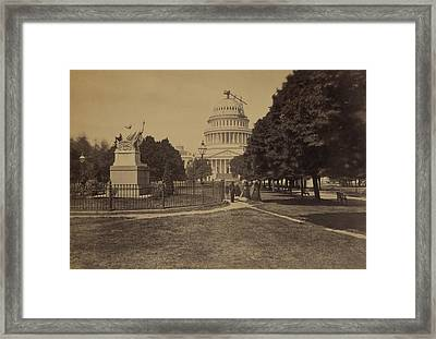 United States Capitol Building In 1863 Framed Print