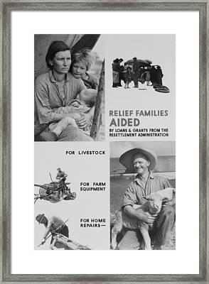 United States Resettlement Framed Print