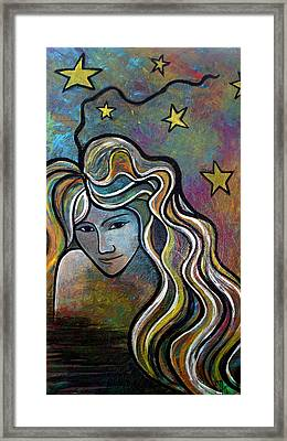 Framed Print featuring the painting Untitled Girl by Monica Furlow