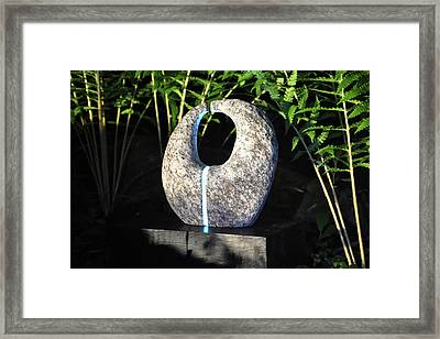 Untitled Glass And Rock Sculpture Framed Print by Tommy  Urbans