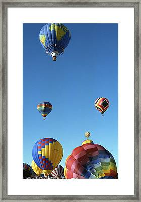 Up Up And Away Framed Print by Les Walker