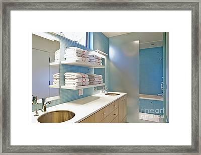 Upscale Bathroom Interior Framed Print by Inti St. Clair