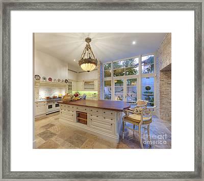 Upscale Kitchen Framed Print by Noam Armonn