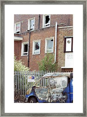 Urban Decay Framed Print by Victor De Schwanberg