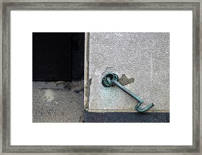 Urban Latch Framed Print by Lisa Phillips