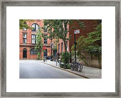 Urban Neighborhood Street Corner Framed Print