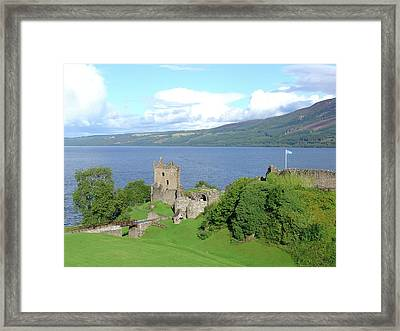Framed Print featuring the photograph Urquhart Castle by Charles and Melisa Morrison
