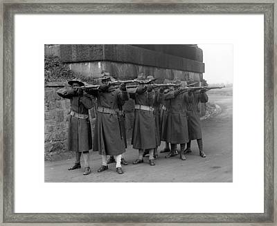 U.s. Army, African American Soldiers Framed Print by Everett