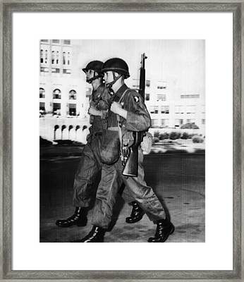Us Civil Rights. Paratroopers Framed Print by Everett