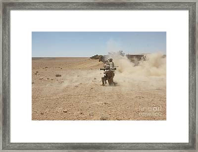 U.s. Marines Fire Several Framed Print by Stocktrek Images