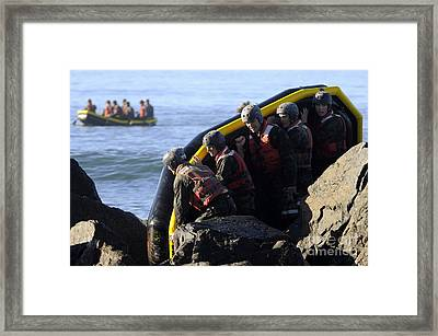 U.s. Navy Seal Candidates Participate Framed Print by Stocktrek Images