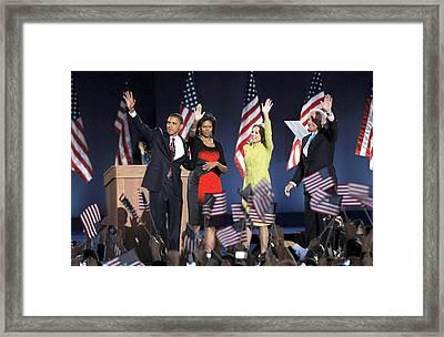 U.s. President Elect Senator Barack Framed Print by Everett