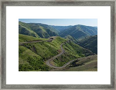 Usa, Washington, Asotin County, Mountain Road Framed Print by Gary Weathers