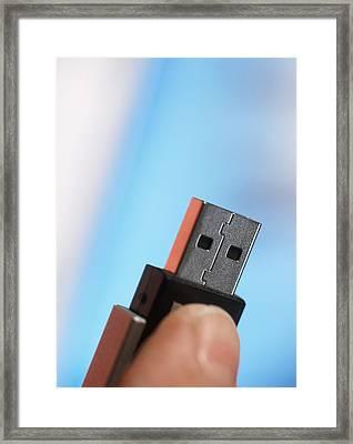 Usb Memory Stick Framed Print by Steve Horrell