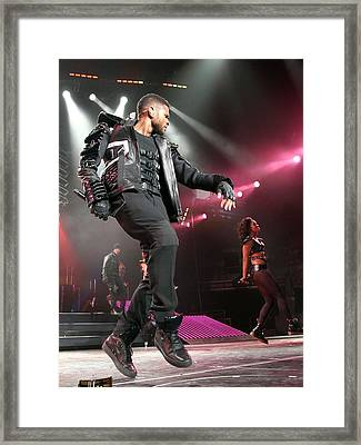 Usher On Stage For Usher In The Omg Framed Print
