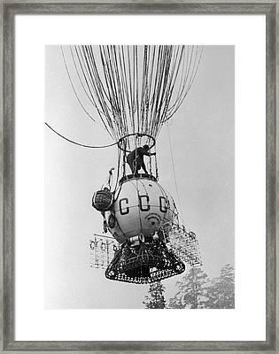 Ussr-1 High-altitude Balloon, 1933 Framed Print by Ria Novosti