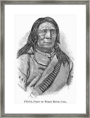 Ute Chief, 1879 Framed Print by Granger