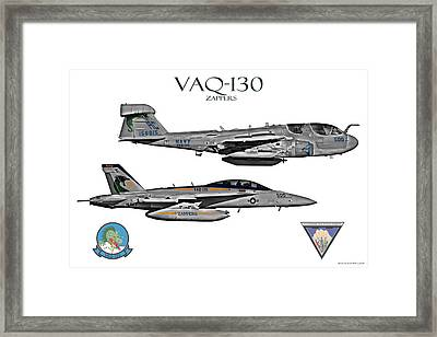 Vaq-130 Prowler And Growler Framed Print by Clay Greunke