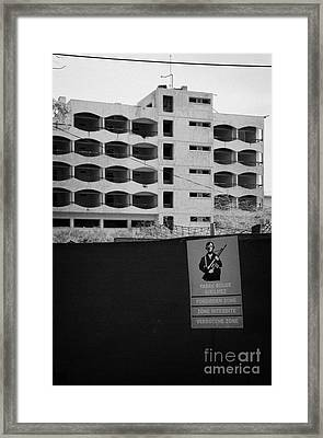 Varosha Forbidden Zone With Hotels Abandoned In 1974 Due To The Turkish Invasion Famagusta Framed Print by Joe Fox