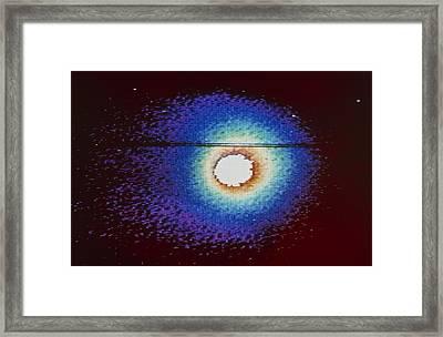 Vega Image Of Halley's Comet Framed Print