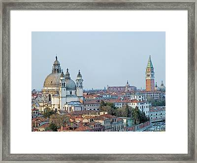 Framed Print featuring the photograph Venice At Dusk by Joseph Hendrix