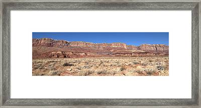Vermillion Cliffs Panorama Framed Print by Bob and Nancy Kendrick