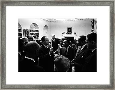 Vice President Hubert Humphrey Framed Print by Everett