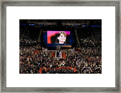 Vice Presidential Candidate Sarah Palin Framed Print by Everett