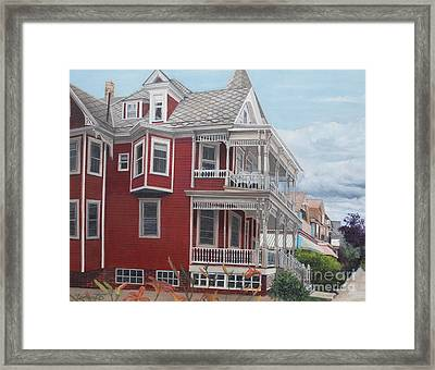 Victorian Afternoon Cape May Framed Print