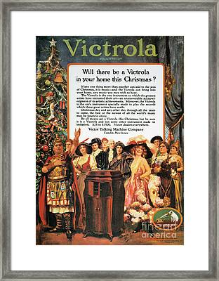 Victrola Advertisement Framed Print by Granger