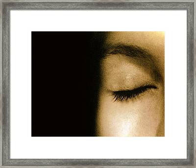View Of A Woman's Closed Eye Framed Print by Cristina Pedrazzini