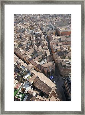 View Of Bologna From The Torre Degli Framed Print by Gina Martin