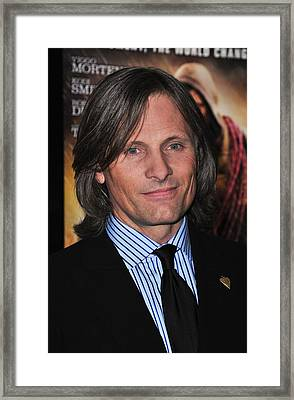 Viggo Mortensen At Arrivals For The Framed Print by Everett