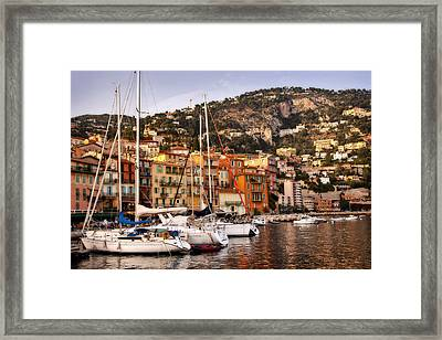 Framed Print featuring the photograph Villefranche-sur-mer  by Steven Sparks