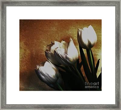 Vintage Bouquet Framed Print by Marsha Heiken