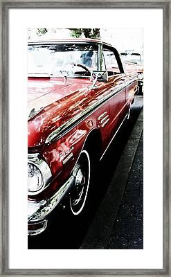 Vintage Red Framed Print