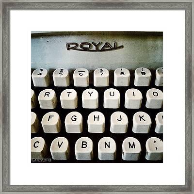 Vintage Royal Typewriter Framed Print