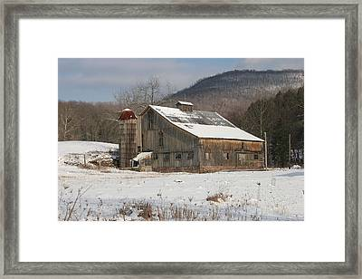 Vintage Weathered Wooden Barn Framed Print