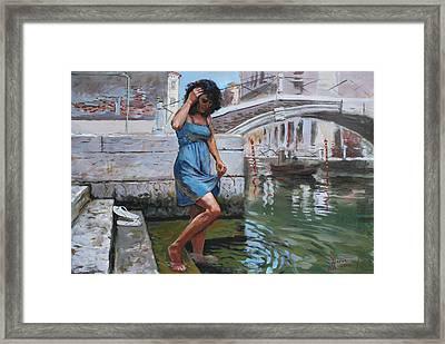 Viola In Venice Framed Print by Ylli Haruni