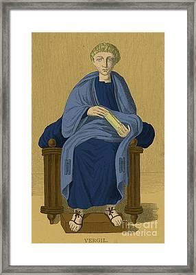 Virgil, Roman Poet Framed Print by Photo Researchers