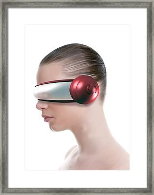 Virtual Reality Headset Framed Print by Victor Habbick Visions
